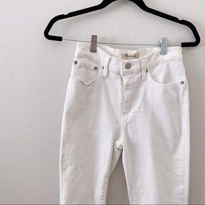 Madewell Cali Demi Boot Jeans White